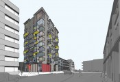A high-density housing scheme for a sensitive site (image courtesy of AHMM Architects)