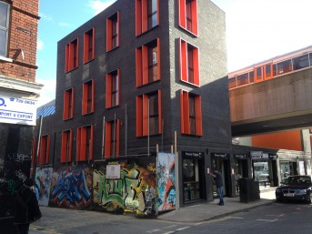 View of development from Brick Lane (image: AZ Urban Studio)