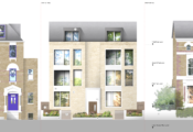 139 Grosvenor Avenue - Front elevation (image - Fourthspace Architects)